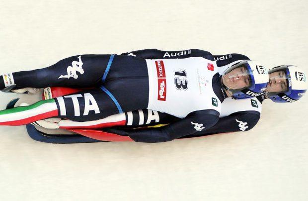 Rieder e Rastner in azione: i due azzurri sono andati a podio nella tappa di CdM di Sigulda