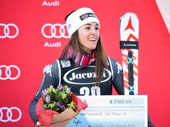 Mondiali sci alpino: niente podio per Sofia Goggia