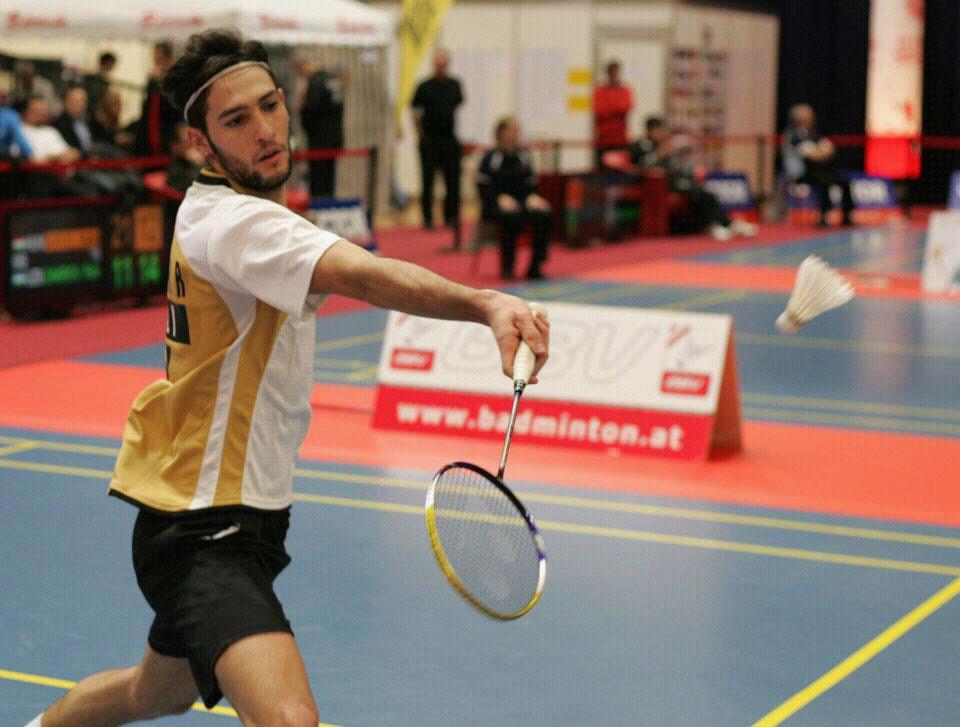 Rosario Maddaloni, giocatore di badminton