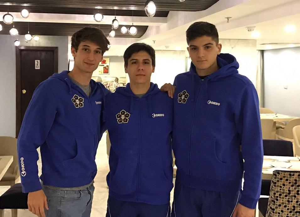 Giuseppe Mattia Parisi, Gianluca Micozzi e Matteo Cicinelli, pentathlon moderno italia, seconda tappa di coppa del mondo 2017 a Il Cairo