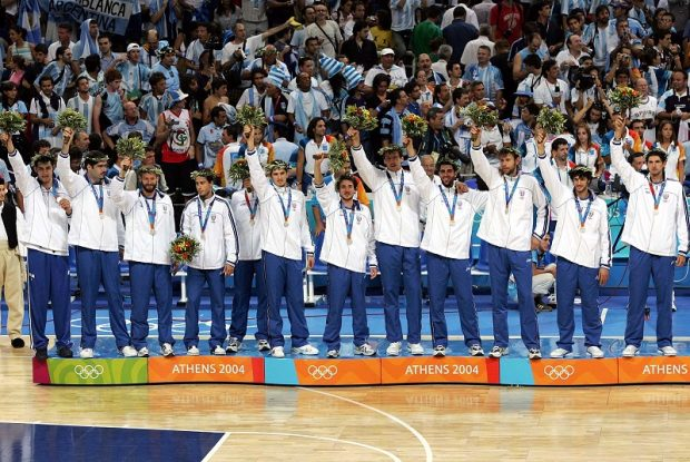 L'Italbasket argento ad Atene 2004