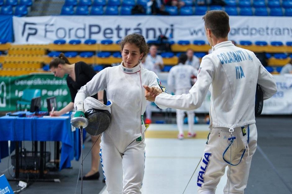 pentathlon coppa del mondo 2017 terza prova: la staffetta azzurra con Alessandra Frezza e Alessandro Colasanti
