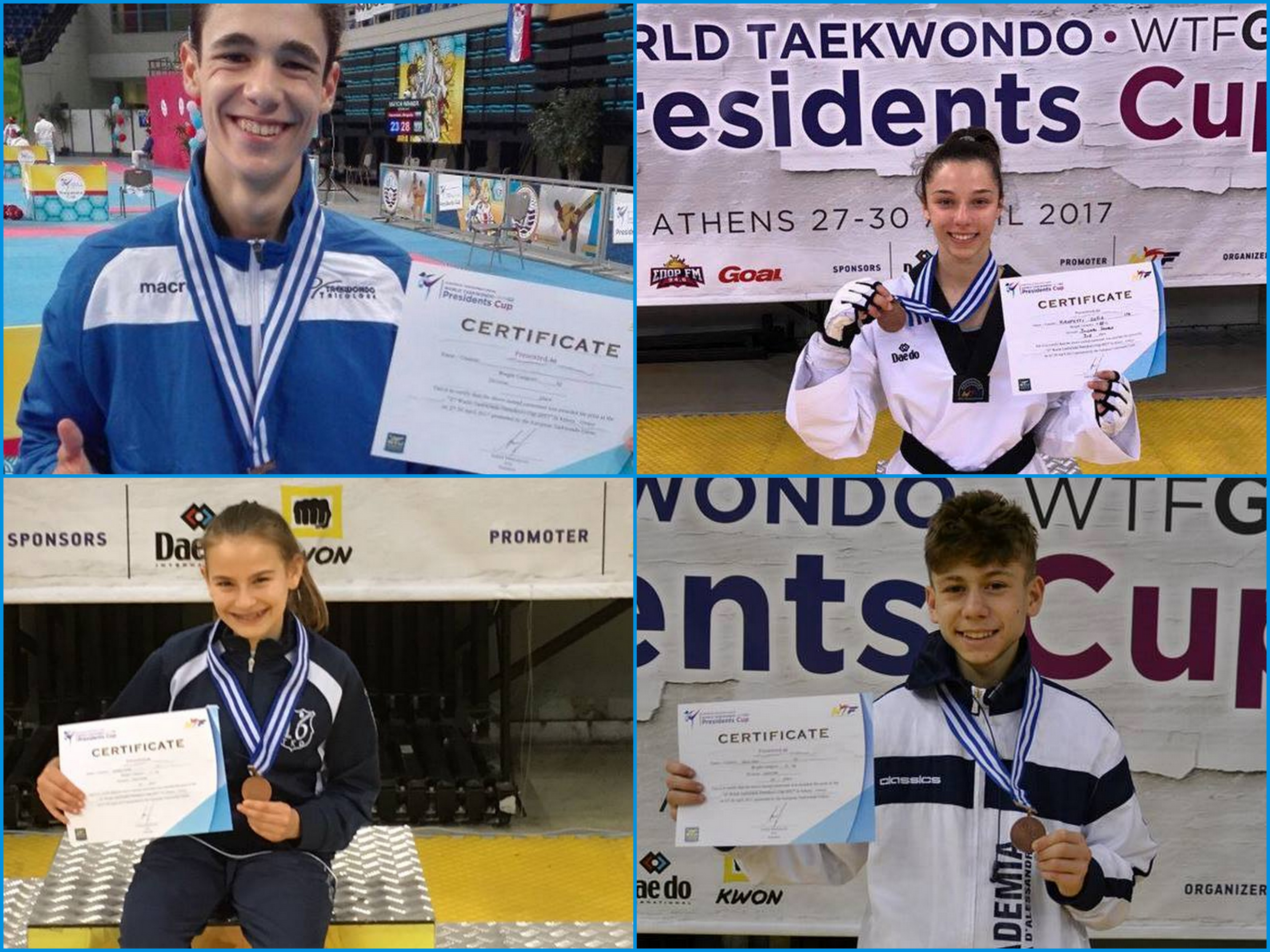 taekwondo president's cup 2017 bronzi italia