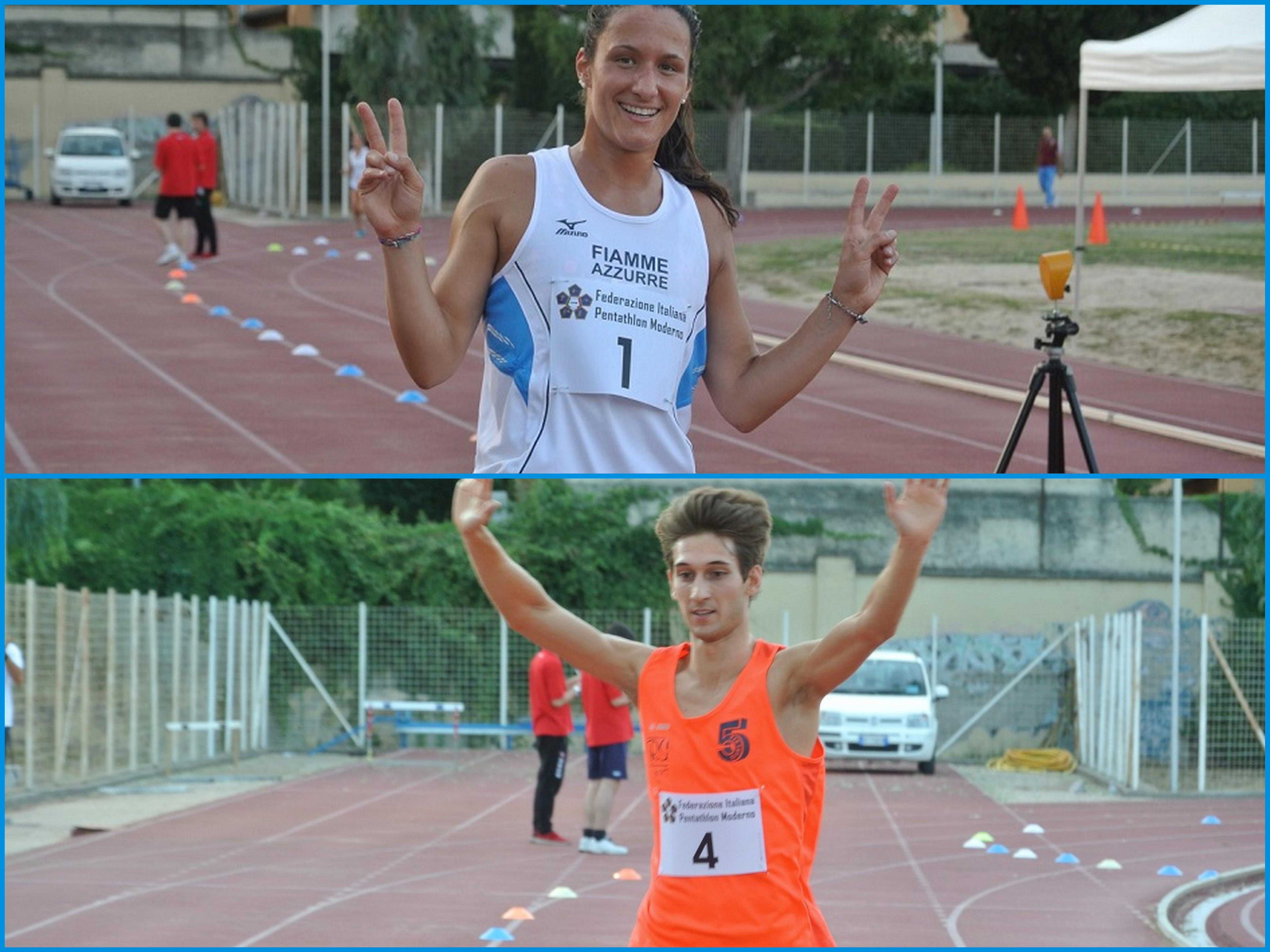 gloria tocchi giuseppe mattia parisi campioni pentathlon campionato italiano assoluto open 2017 pentathlon moderno italia nazionale