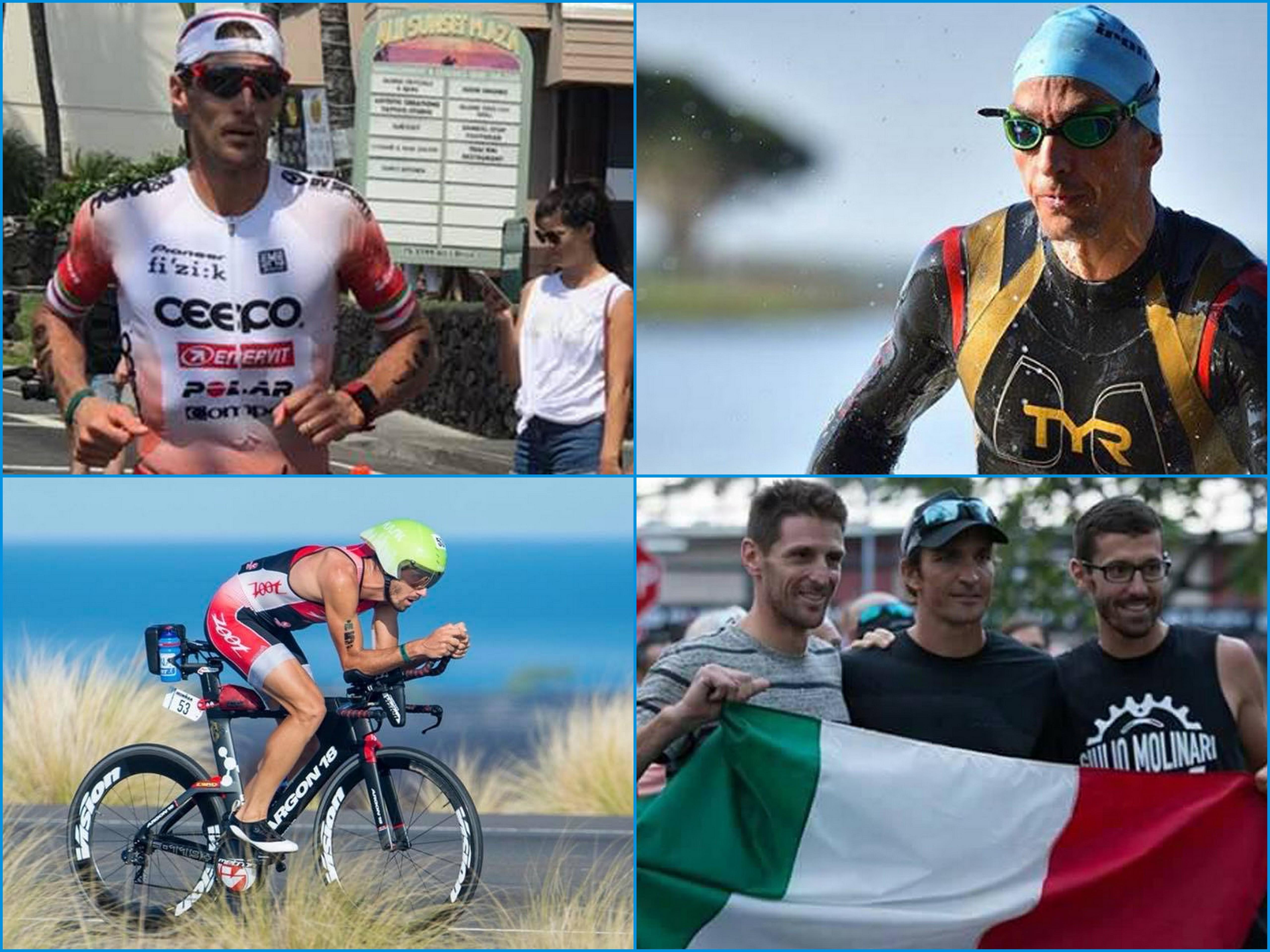 ironman world championship hawaii 2017: alessandro degasperi, giulio molinari e daniel fontana in gara (italia team) triathlon