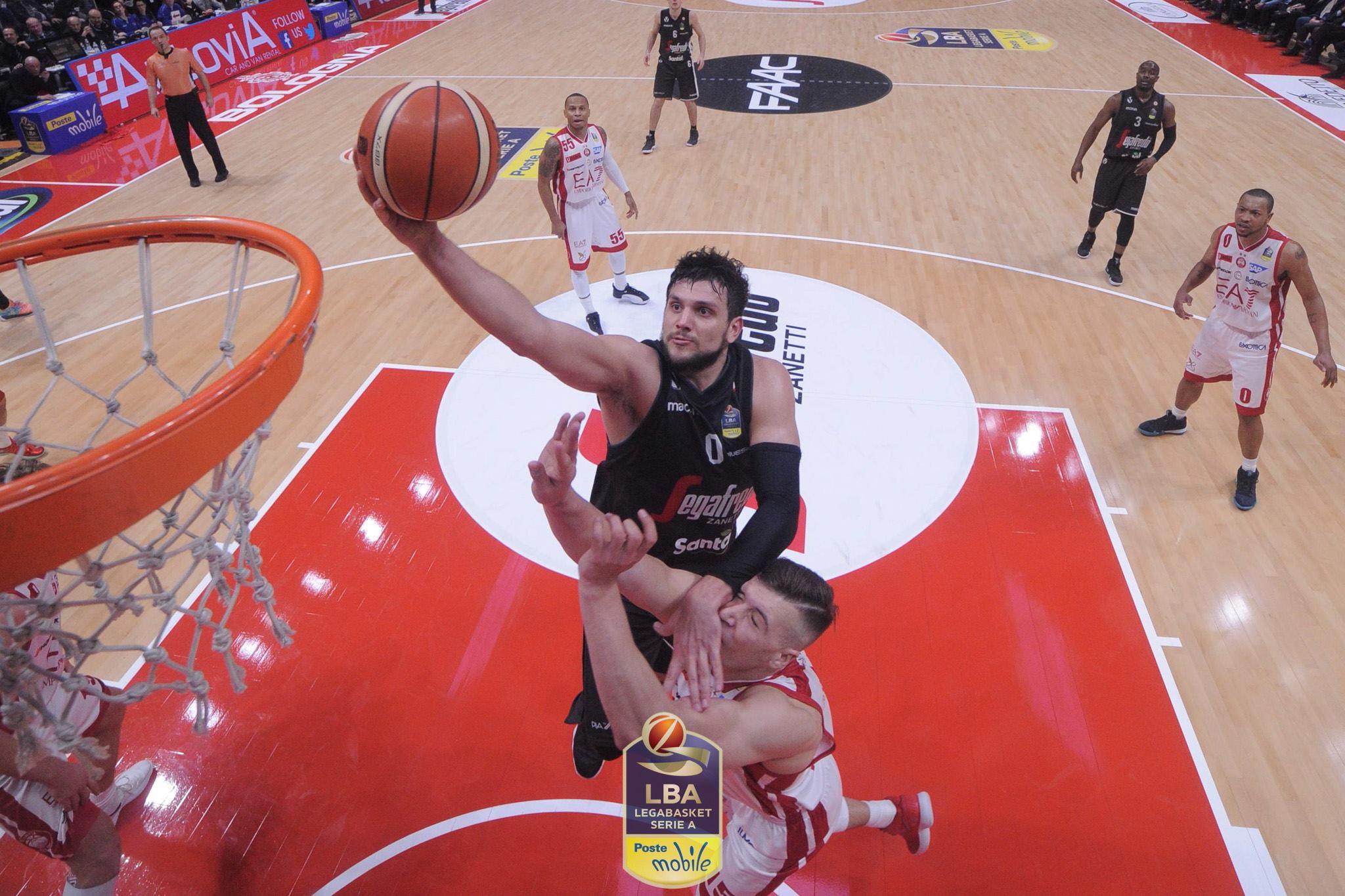 Basket, serie A1, 21^giornata: Milano vince contro Gentile