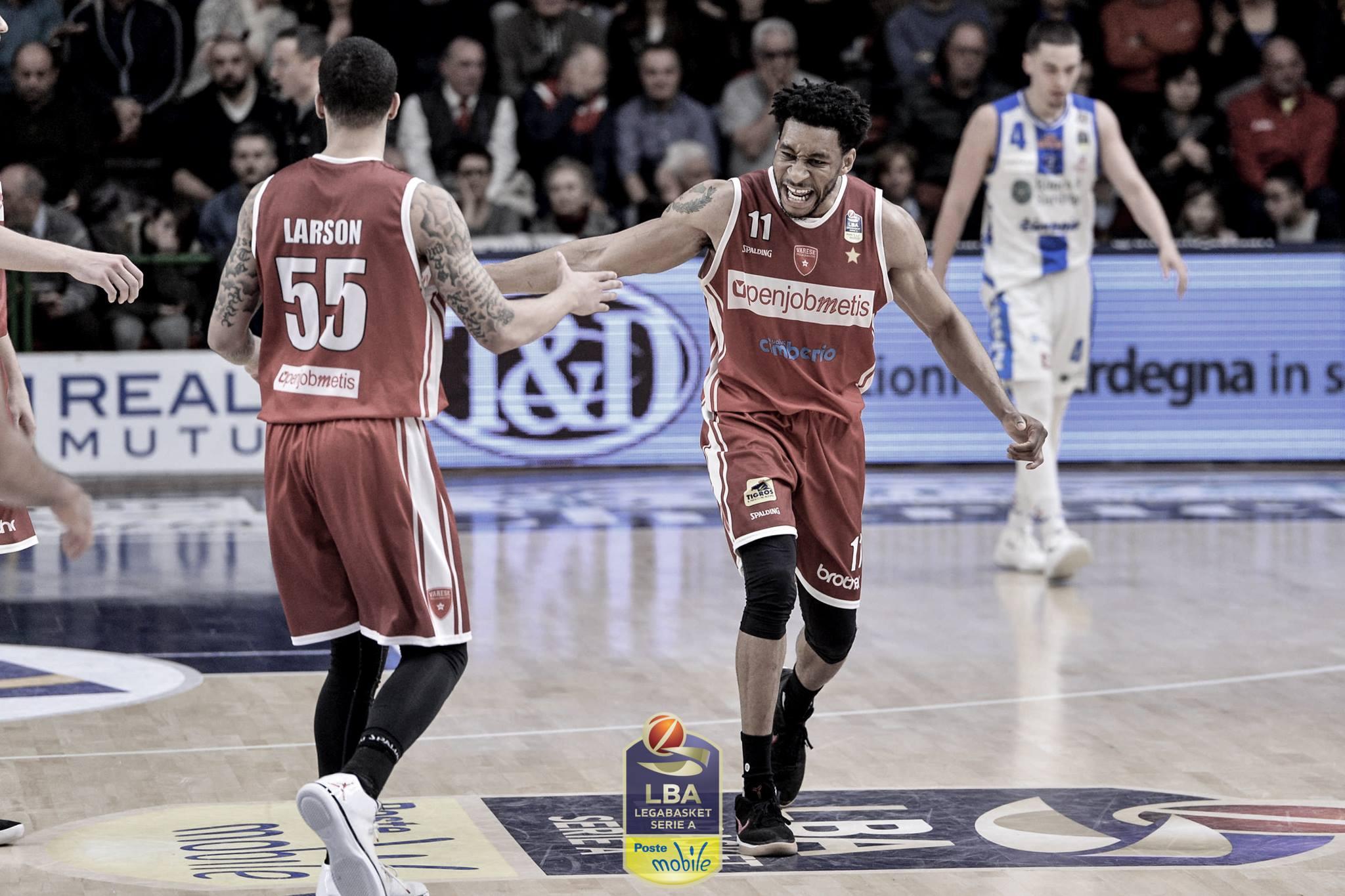 Basket serie A1: Varese corsara a Sassari con super Okoye