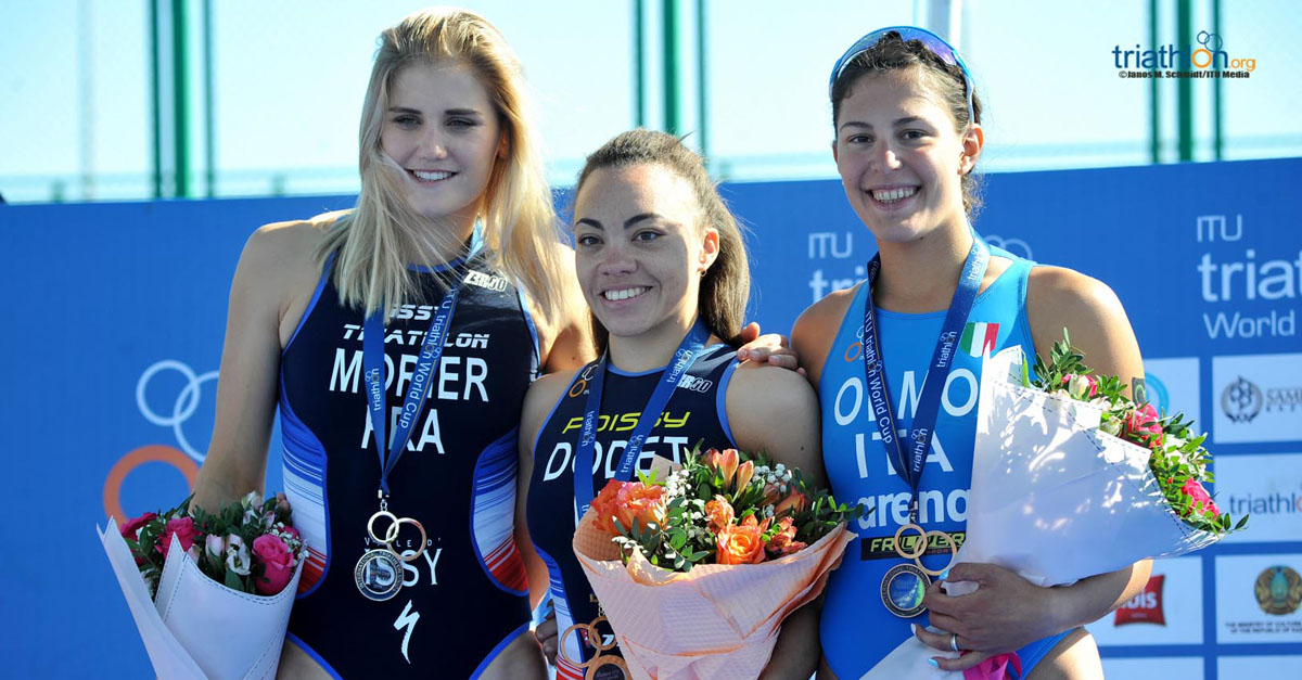 triathlon coppa del mondo 2018 astana angelica olmo bronzo terza italia italy world triathlon cup 2018 terzo posto