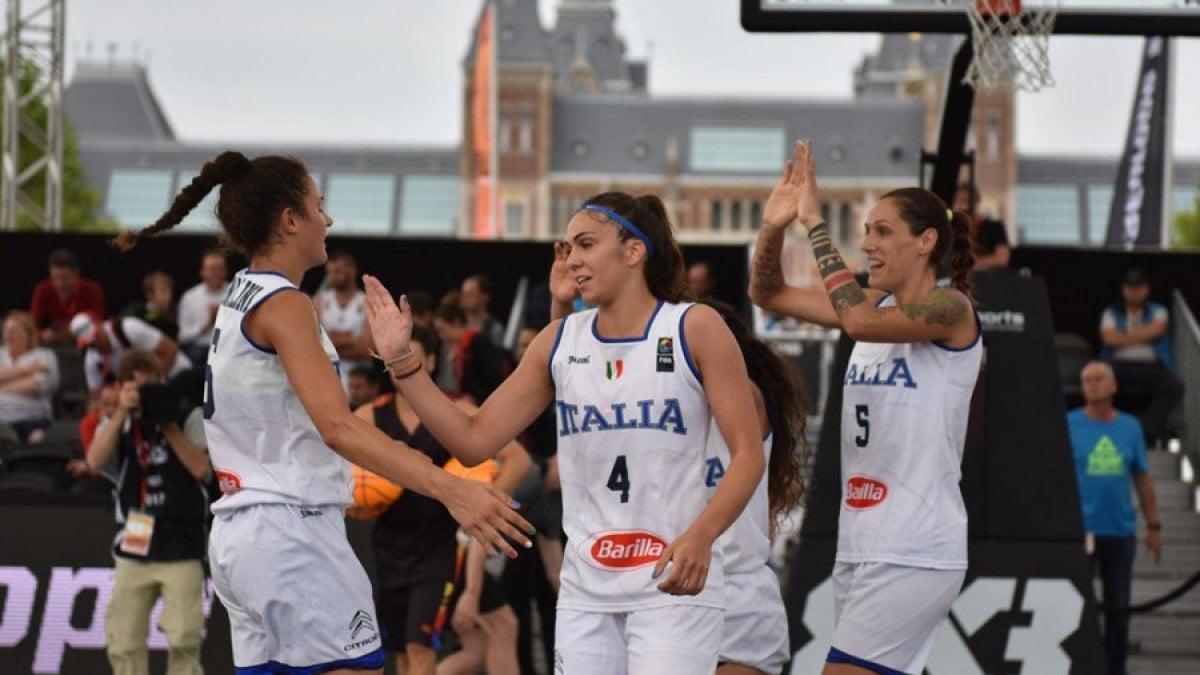 La nazionale italiana femminile di basket 3x3 al Mondiale