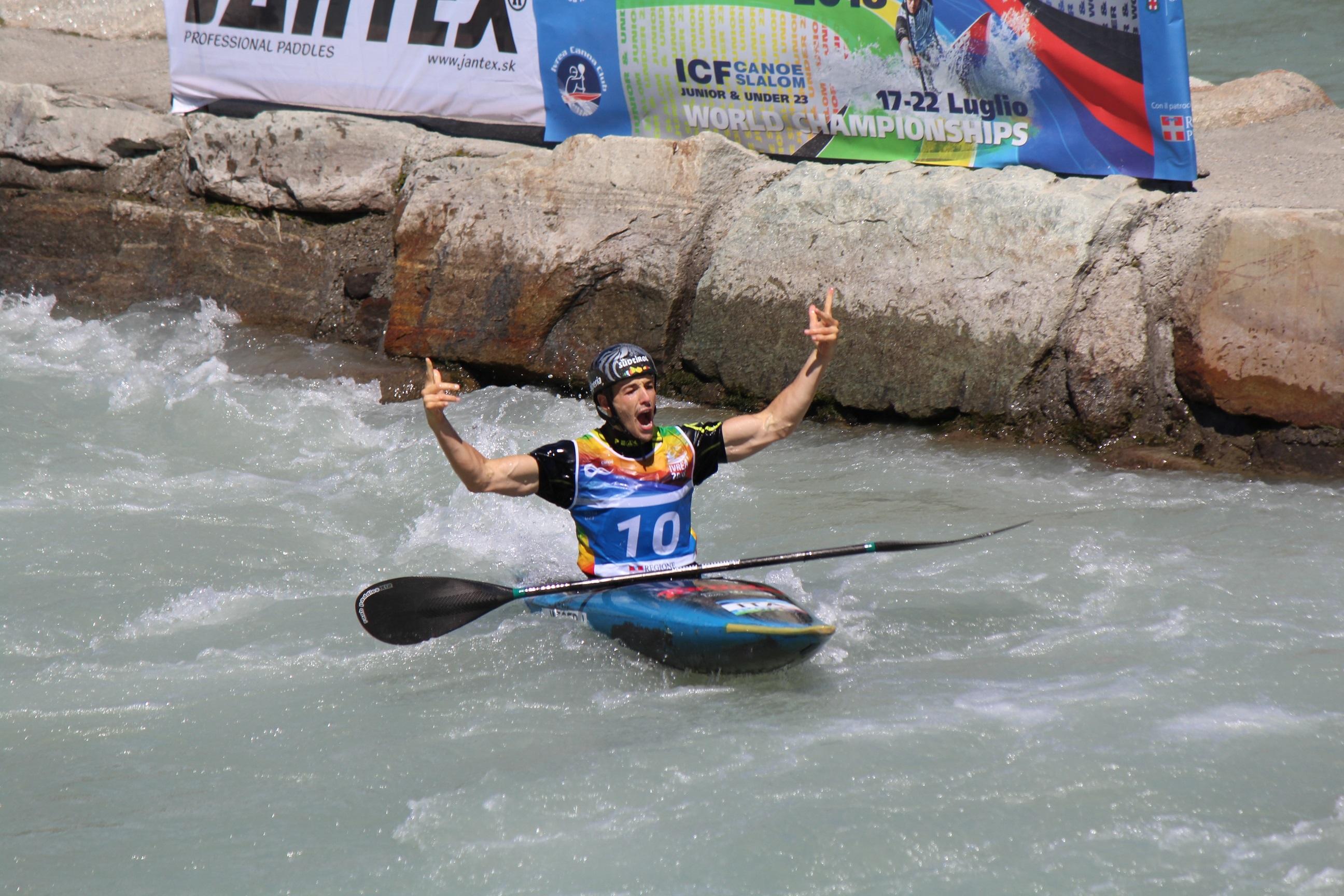 Jakob Weger Oro nel K1 U23