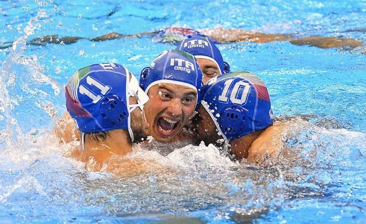 pallanuoto maschile europei 2018 quarti italia russia 7bello settebello waterpolo italy russia barcellona picornell barcelona european championships