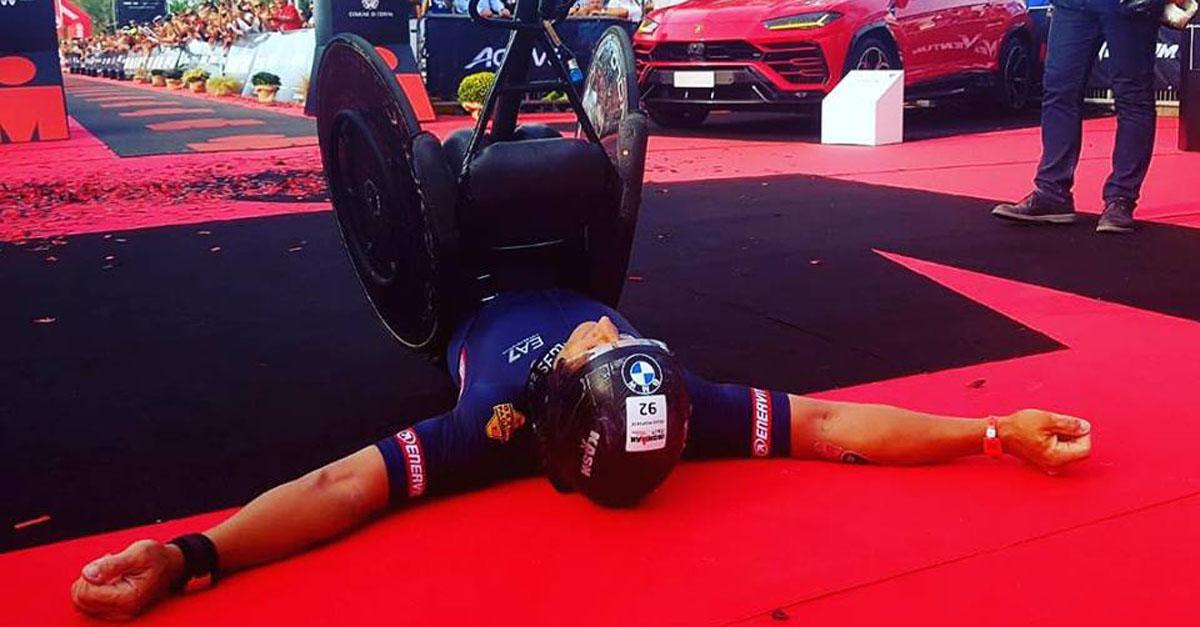paratriathlon ironman italy 2018 zanardi alex world record cervia italia emilia romagna record del mondo triathlon paralimpico