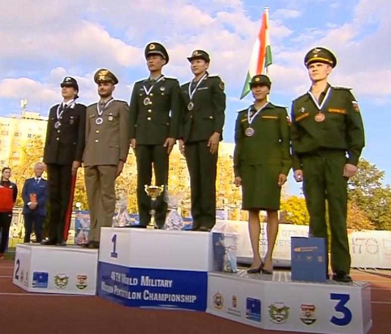 pentathlon mondiali militari 2018 staffetta mista italia argento valerio grasselli elena micheli budapest mixed relay italy pentathlon moderno modern pentathlon silver