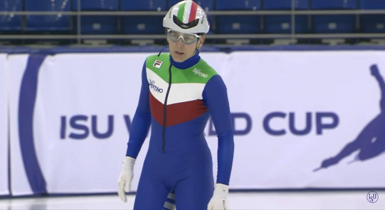 Cecilia Maffei in pista per l'Italia dello short track