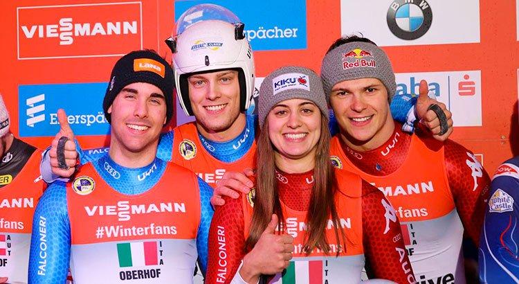 Slittino: la squadra per il Team Relay italiano