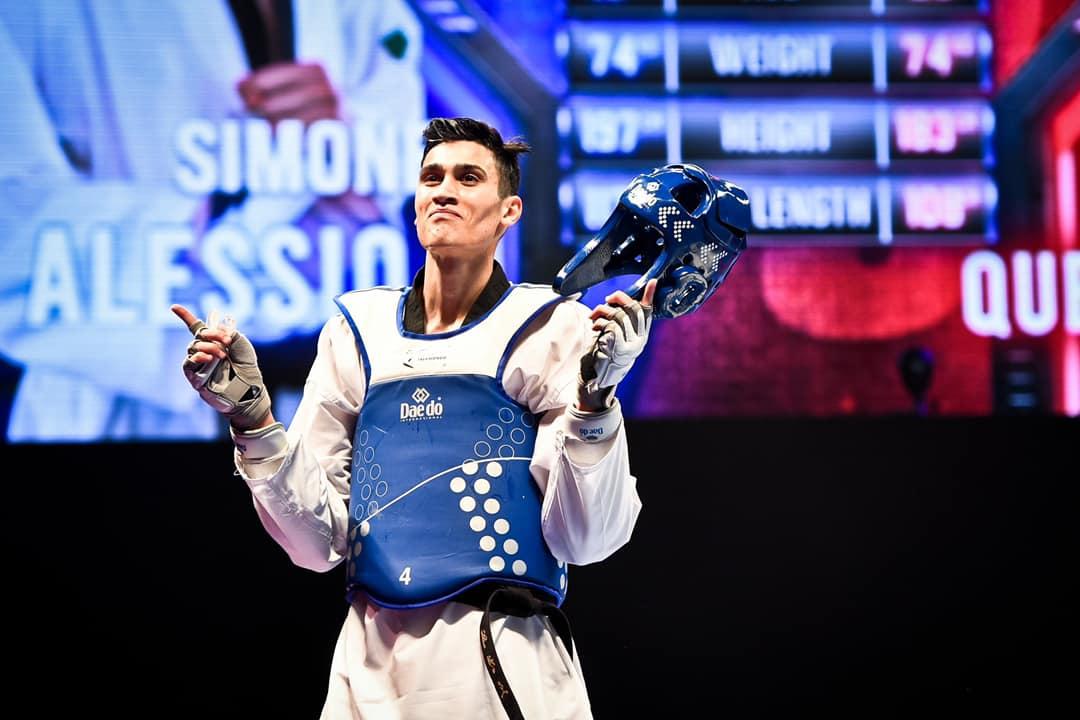 taekwondo mondiali manchester 2019 simone alessio oro italia italy world championships golden world champion categoria -74 kg maschile male