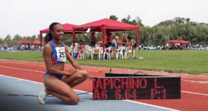atletica salto in lungo iapichino record italiano U20 italia italy larissa iapichino long jump 6,64 m athletics campionati italiani allievi 2019 agropoli alessandro sion decathlon record italiano under 18
