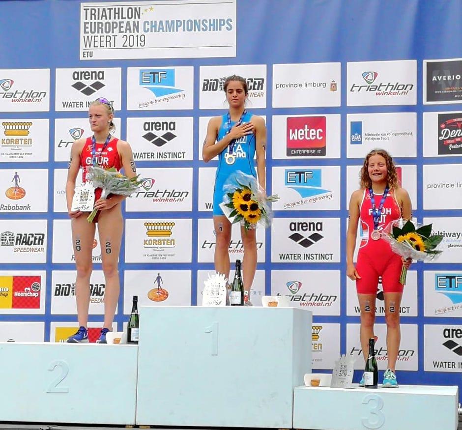 triathlon europei 2019 weert beatrice mallozzi oro junior italia italy european championships golden medal juniores campionessa europea campionessa continentale junior european junior champion prima