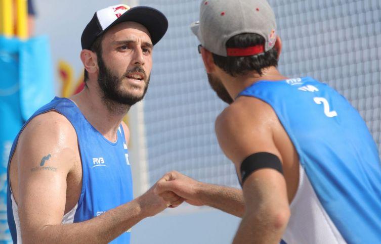 Nicolai/Lupo agli Europei 2019 di Beach Volley