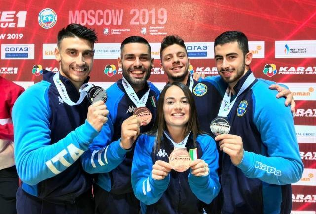 Gli azzurri medagliati nella tappa di Mosca della Premier League 2019 di Karate