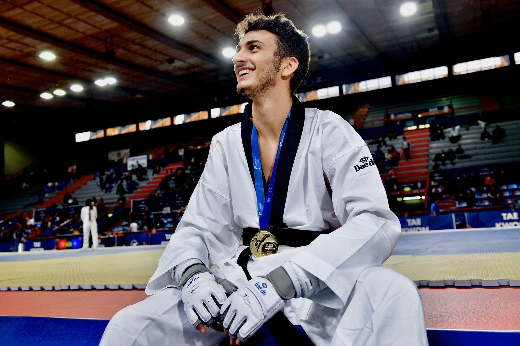 taekwondo europei 2019 bari vito dell'aquila oro italia italy taekwondo european championships campionati europei 2019 palaflorio golden gold categoria -58 kg maschile