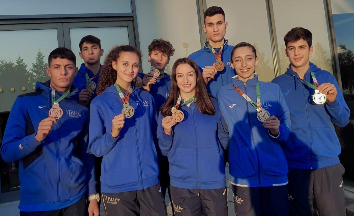 taekwondo europei categorie olimpiche 2019 dublino italia italy 8 medaglie 4 argenti 4 bronzi campionati europei per categorie olimpiche 2019