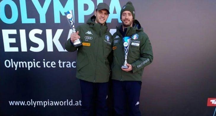 skeleton coppa europa 2020 igls innsbruck amedeo bagnis primo italia italy europe cup mattia gaspari first place fourth place
