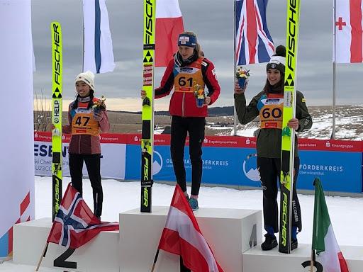 salto con gli sci mondiali junior 2020 Oberwiesenthal lara malsiner bronzo italia italy ski jumping terzo posto 3° posto third place bronze germania germany mondiale juniores campionati del mondo world championships