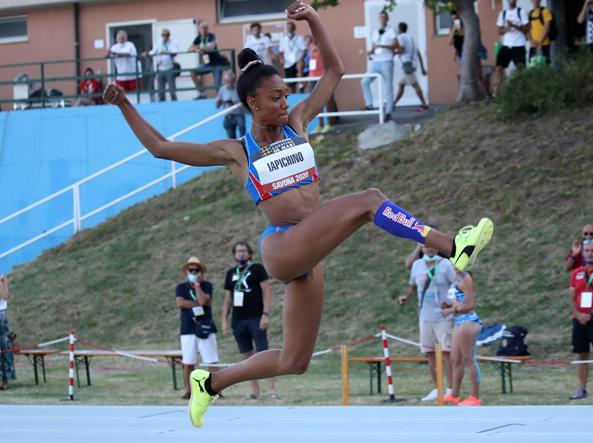 atletica savona 2020 larissa iapichino salto in lungo record under 20 italia italy long jump atletica leggera athletics castelporziano