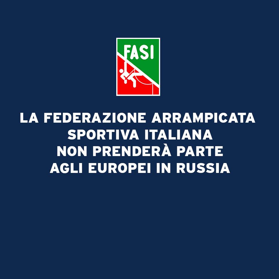 Annullamento trasferta in Russia per gli Europei 2020 di Arrampicata Sportiva