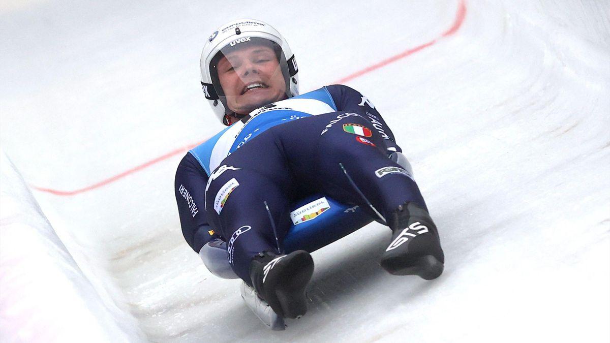 slittino coppa del mondo 2020 winterberg dominik fischnaller italia italy azzurri di gloria luge world cup 2020-2021 germania germany terzo posto third place