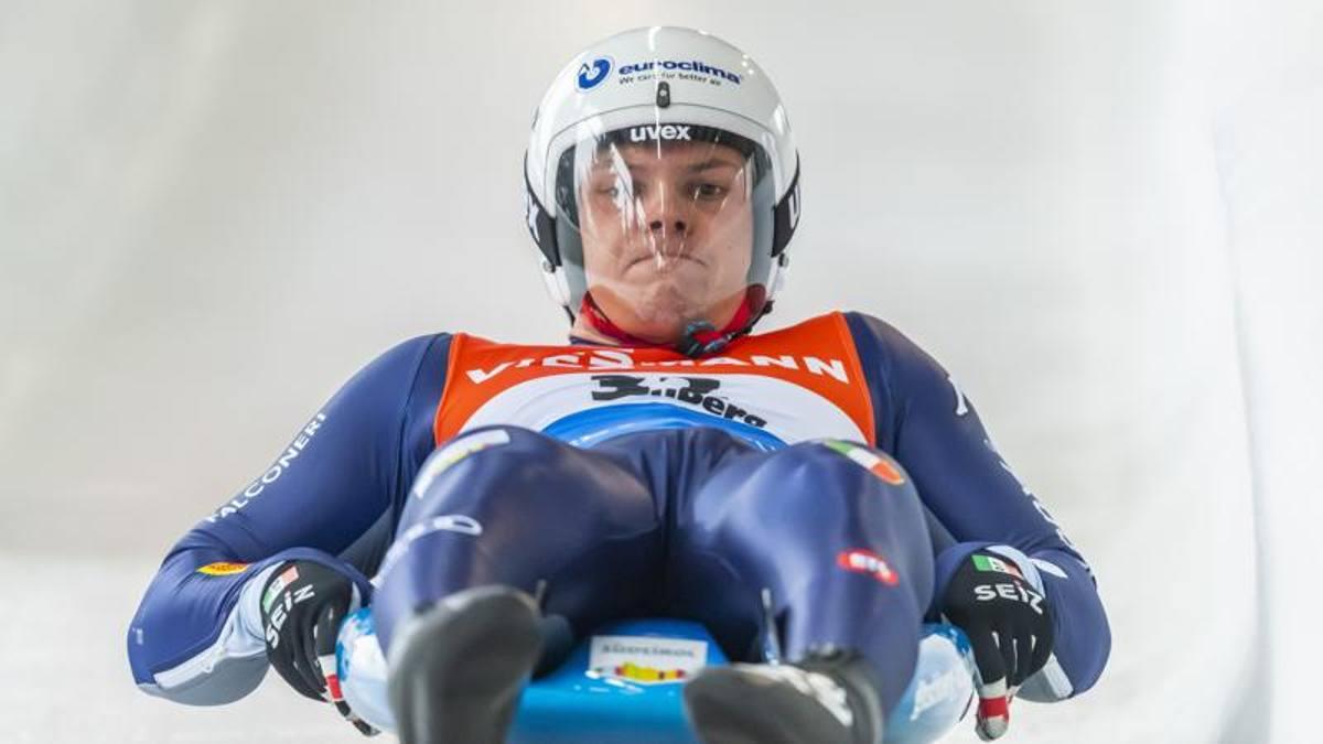 slittino coppa del mondo 2021 sigulda dominik fischnaller terzo italia italy luge world cup 2020/2021 european championships third place bronze europei 2021 lettonia latvia