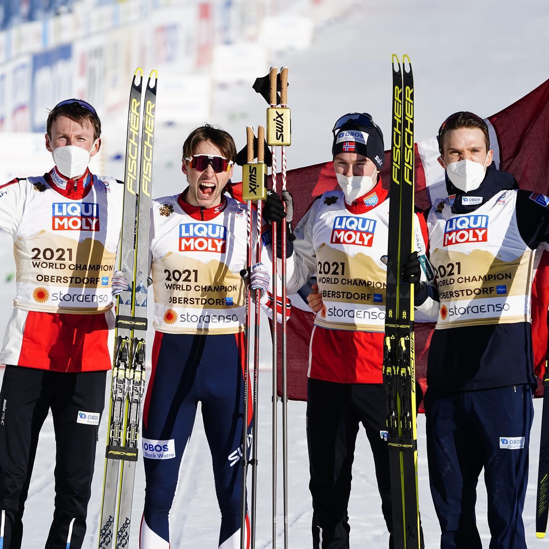 La squadra norvegese in combinata nordica (foto FB Kombinertlandslaget)