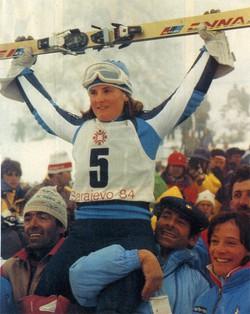 Paoletta Magoni, oro ai Giochi Olimpici Invernali di Sarajevo 1984