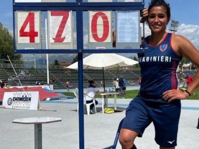 atletica roberta bruni record italiano salto con l'asta italia italy atletica leggera athletics primato nazionale national record vault pole women