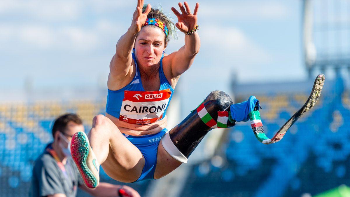 atletica paralimpica caironi record mondiale salto in lungo italia italy world record long jump paralympics paralimpiadi primato iridato categoria T63 2021 atletica leggera