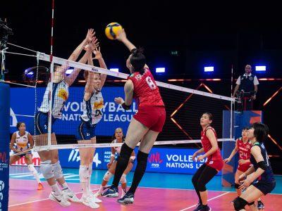 Volley Nations League Femminile: Italia vs Giappone 3-2 FONTE: https://www.facebook.com/FederazioneItalianaPallavolo/