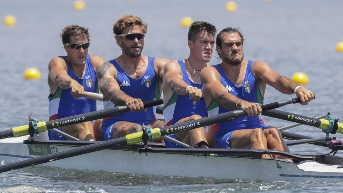 Gli azzurri del 4 senza del canottaggio vincono la medaglia di bronzo alle Olimpiadi di Tokyo 2020