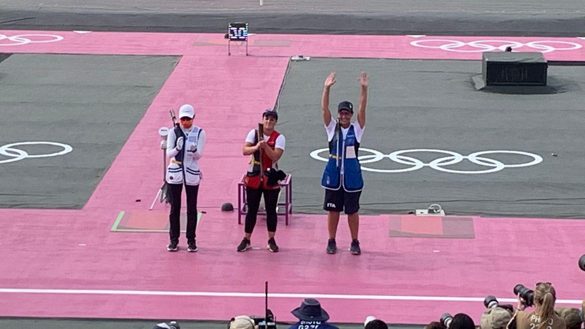 olimpiadi tiro a volo diana bacosi argento tokyo 2020 silver medal italia italy olympics skeet shooting
