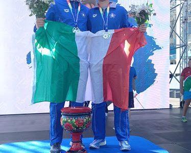 pentathlon europei 2021 giuseppe mattia parisi roberto micheli oro staffetta maschile men relay man relay gold italia italy pentathlon moderno modern pentathlon european championships 2021