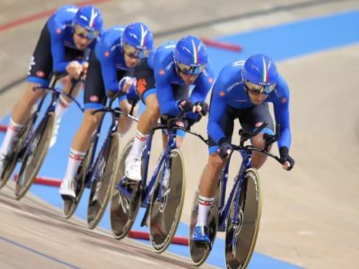La squadra di inseguimento maschile azzurra