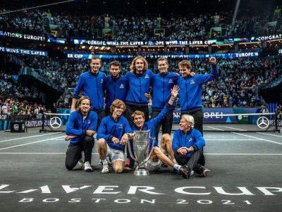 Il Team Europe, vincitore della Laver Cup