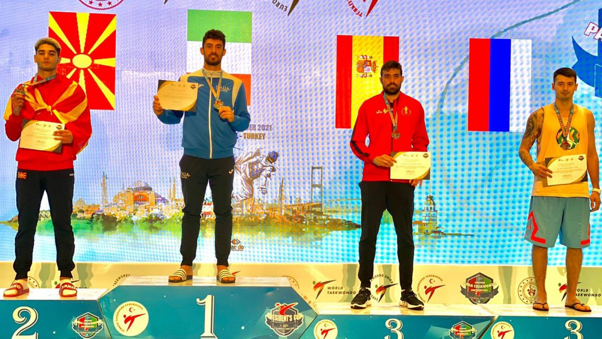 taekwondo president's cup 2021 istanbul roberto botta oro italia italy gold categoria -87 kg maschile istanbul turchia