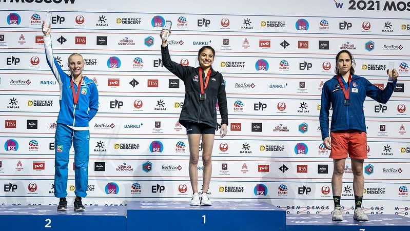 Camilla Moroni sul podio iridato